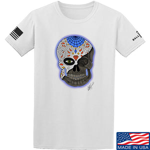 Tattooed n Southern Sugar Skull T-Shirt T-Shirts Small / Military Green by Ballistic Ink - Made in America USA