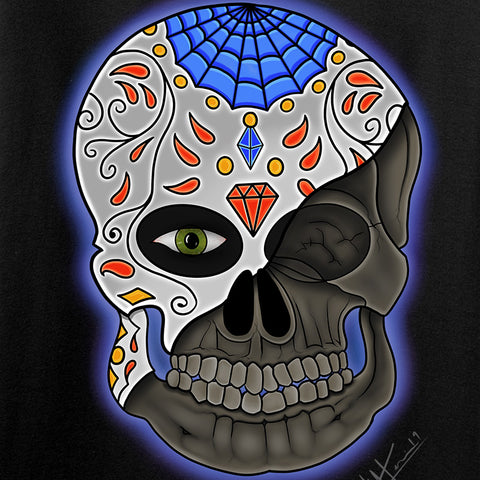 Tattooed n Southern Ladies Sugar Skull T-Shirt T-Shirts [variant_title] by Ballistic Ink - Made in America USA