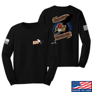 Tattooed n Southern The Hare Long Sleeve T-Shirt Long Sleeve Small / Navy by Ballistic Ink - Made in America USA
