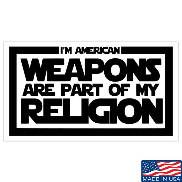 Weapons Religion Sticker & Decal