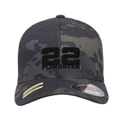 22plinkster 22plinkster Logo Flexfit® Multicam® Trucker Mesh Cap Headwear Black Multicam by Ballistic Ink - Made in America USA