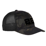 22plinkster 22plinkster Logo Flexfit® Multicam® Trucker Mesh Cap Headwear [variant_title] by Ballistic Ink - Made in America USA