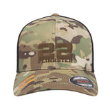 22plinkster 22plinkster Logo Flexfit® Multicam® Trucker Mesh Cap Headwear Multicam by Ballistic Ink - Made in America USA