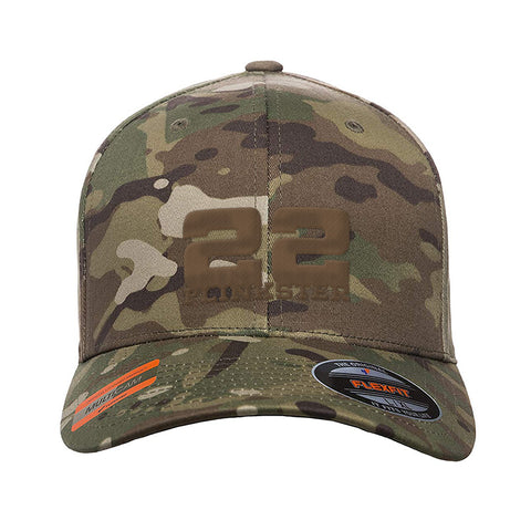 22plinkster 22plinkster Logo Flexfit® Multicam® Trucker Cap Headwear Multicam S/M by Ballistic Ink - Made in America USA