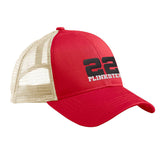 22plinkster 22plinkster Logo Snapback Cap Headwear Red/Oyster by Ballistic Ink - Made in America USA