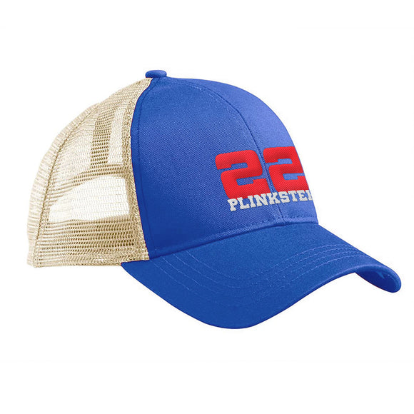 22plinkster 22plinkster Logo Snapback Cap Headwear Royal/White by Ballistic Ink - Made in America USA
