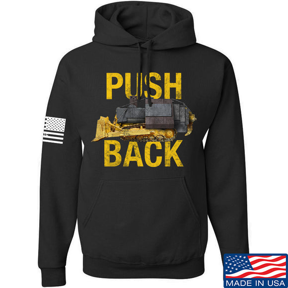 704 Tactical Push Back Hoodie Hoodies Small / Black by Ballistic Ink - Made in America USA