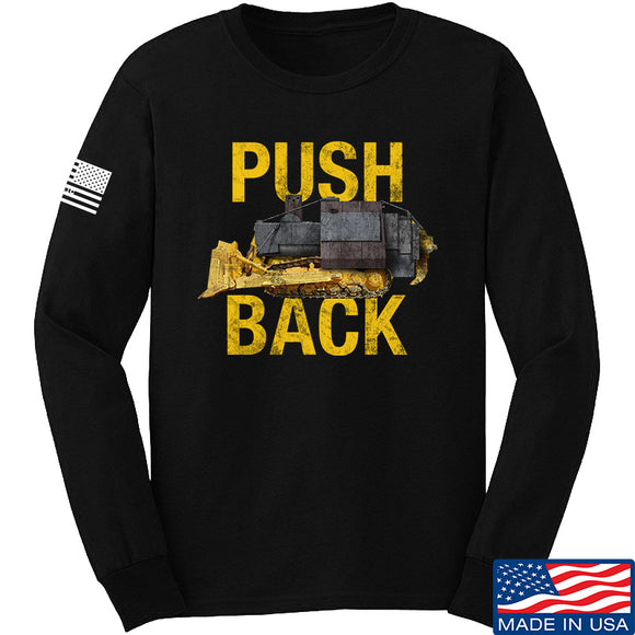 704 Tactical Push Back Long Sleeve T-Shirt Long Sleeve Small / Black by Ballistic Ink - Made in America USA
