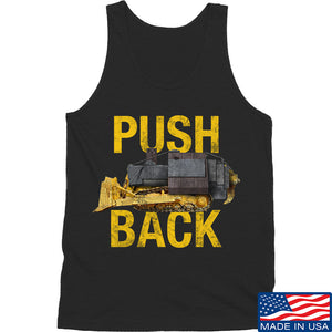 704 Tactical Push Back Tank Tanks SMALL / Black by Ballistic Ink - Made in America USA