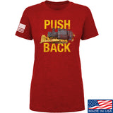 704 Tactical Ladies Push Back T-Shirt T-Shirts SMALL / Red by Ballistic Ink - Made in America USA