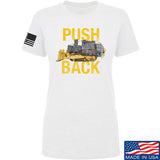 704 Tactical Ladies Push Back T-Shirt T-Shirts SMALL / White by Ballistic Ink - Made in America USA