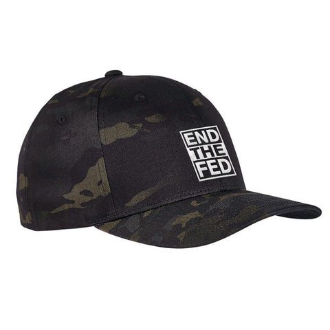9mmsmg End The Fed Flexfit® Multicam® Trucker Cap Headwear [variant_title] by Ballistic Ink - Made in America USA