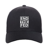 9mmsmg End The Fed Snapback Cap Headwear Black by Ballistic Ink - Made in America USA