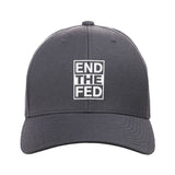9mmsmg End The Fed Snapback Cap Headwear Dark Grey by Ballistic Ink - Made in America USA