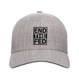 9mmsmg End The Fed Snapback Cap Headwear Heather Grey by Ballistic Ink - Made in America USA