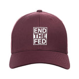 9mmsmg End The Fed Snapback Cap Headwear Maroon by Ballistic Ink - Made in America USA