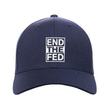 9mmsmg End The Fed Snapback Cap Headwear Navy by Ballistic Ink - Made in America USA