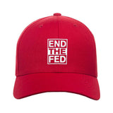 9mmsmg End The Fed Snapback Cap Headwear Red by Ballistic Ink - Made in America USA