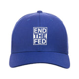 9mmsmg End The Fed Snapback Cap Headwear Blue by Ballistic Ink - Made in America USA