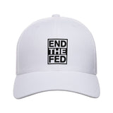 9mmsmg End The Fed Snapback Cap Headwear White by Ballistic Ink - Made in America USA