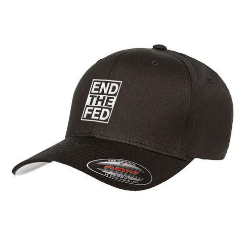 9mmsmg End The Fed Flexfit® Cap Headwear S/M / Black by Ballistic Ink - Made in America USA