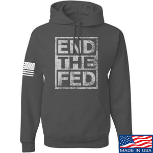 9mmsmg End The Fed Hoodie Hoodies Small / Black by Ballistic Ink - Made in America USA