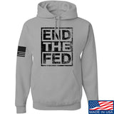 9mmsmg End The Fed Hoodie Hoodies Small / Light Grey by Ballistic Ink - Made in America USA