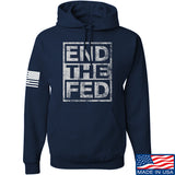 9mmsmg End The Fed Hoodie Hoodies Small / Navy by Ballistic Ink - Made in America USA