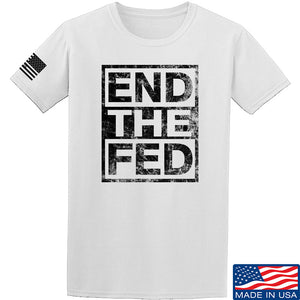 9mmsmg End The Fed T-Shirt T-Shirts Small / Black by Ballistic Ink - Made in America USA