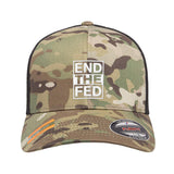 9mmsmg End The Fed Flexfit® Multicam® Trucker Mesh Cap Headwear [variant_title] by Ballistic Ink - Made in America USA