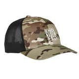 9mmsmg End The Fed Flexfit® Multicam® Trucker Mesh Cap Headwear Multicam by Ballistic Ink - Made in America USA