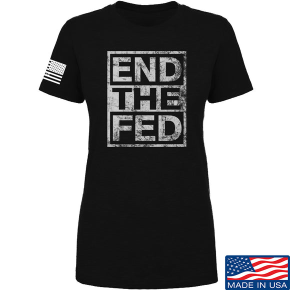 9mmsmg Ladies End The Fed T-Shirt T-Shirts SMALL / Black by Ballistic Ink - Made in America USA