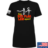 American Gun Chic Ladies Say Red Flag Laws Again T-Shirt T-Shirts SMALL / Black by Ballistic Ink - Made in America USA