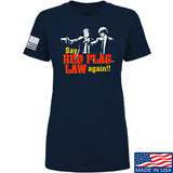 American Gun Chic Ladies Say Red Flag Laws Again T-Shirt T-Shirts SMALL / Navy by Ballistic Ink - Made in America USA