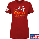 American Gun Chic Ladies Say Red Flag Laws Again T-Shirt T-Shirts SMALL / Red by Ballistic Ink - Made in America USA