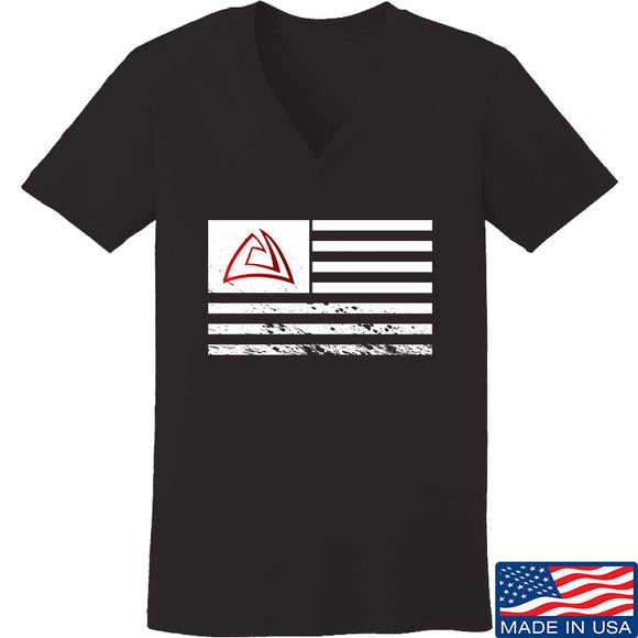 Ladies ACW Flag V-Neck