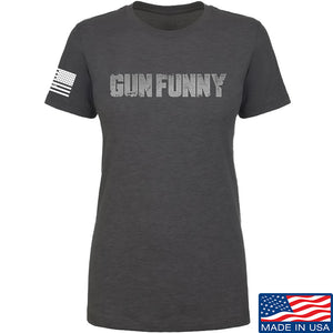 Ladies Gun Funny Steel T-Shirt