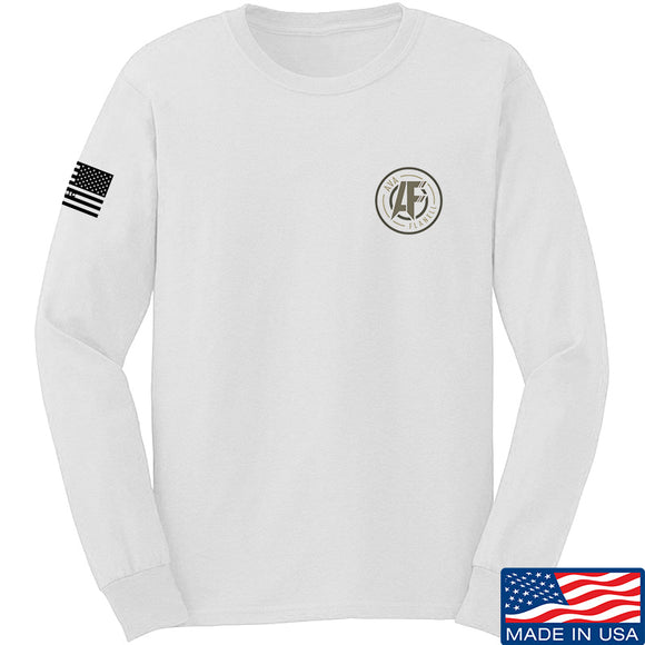 Ava Flanell Chest Logo Long Sleeve T-Shirt