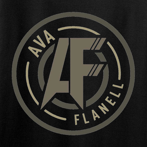 Ava Flanell Chest Logo T-Shirt