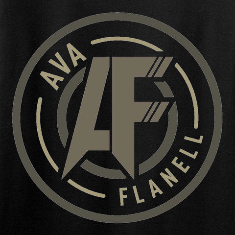 Ladies Ava Flanell Chest Logo T-Shirt