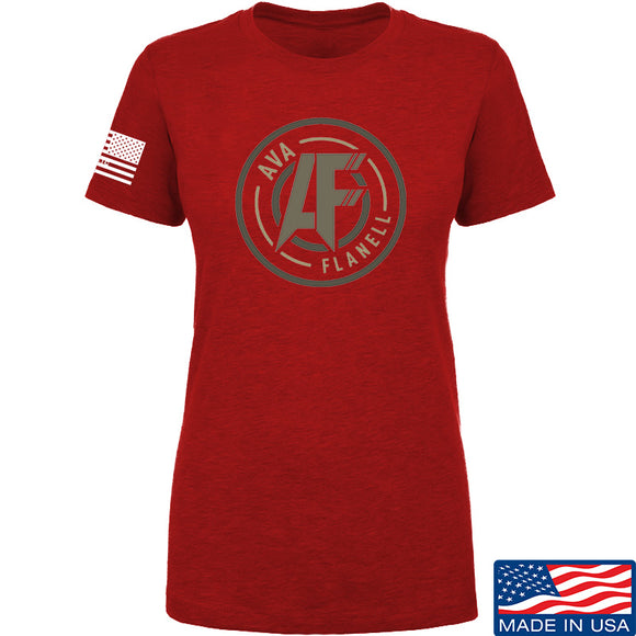 Ladies Ava Flanell Full Logo T-Shirt