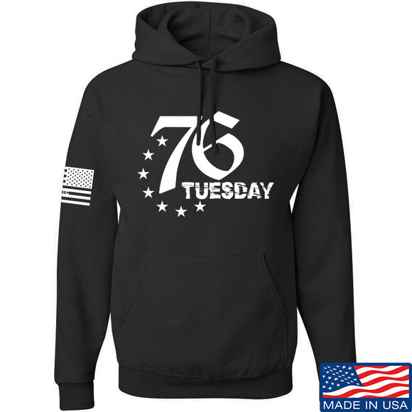 Black Diamond Guns and Gear 76 Tuesday Hoodie Hoodies Small / Black by Ballistic Ink - Made in America USA