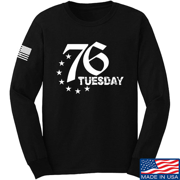 Black Diamond Guns and Gear 76 Tuesday Long Sleeve T-Shirt Long Sleeve Small / Black by Ballistic Ink - Made in America USA