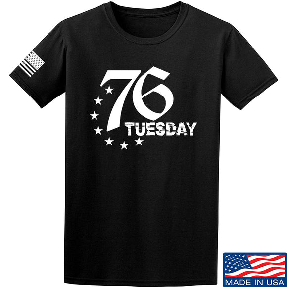 Black Diamond Guns and Gear 76 Tuesday T-Shirt T-Shirts Small / Black by Ballistic Ink - Made in America USA
