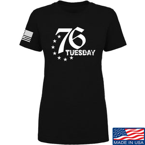 Black Diamond Guns and Gear Ladies 76 Tuesday T-Shirt T-Shirts SMALL / Black by Ballistic Ink - Made in America USA