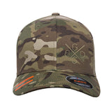 BDGG Cross Logo Flexfit® Multicam® Trucker Cap