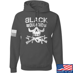 Black Diamond Guns and Gear Black Diamond Skull Hoodie Hoodies Small / Black by Ballistic Ink - Made in America USA