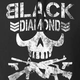 Black Diamond Guns and Gear Black Diamond Skull Hoodie Hoodies [variant_title] by Ballistic Ink - Made in America USA