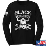 Black Diamond Guns and Gear Black Diamond Skull Long Sleeve T-Shirt Long Sleeve Small / Black by Ballistic Ink - Made in America USA