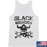 Black Diamond Guns and Gear Black Diamond Skull Tank Tanks SMALL / White by Ballistic Ink - Made in America USA